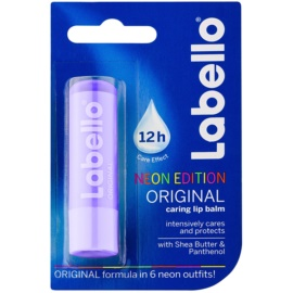 Labello Original Neon Edition bálsamo hidratante intensivo para lábios com manteiga de karité   4,8 g