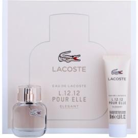 Lacoste Eau de Lacoste L.12.12 Pour Elle Elegant dárková sada I. toaletní voda 30 ml + sprchový gel 50 ml