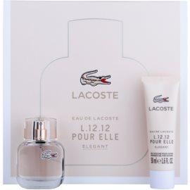 Lacoste Eau de Lacoste L.12.12 Pour Elle Elegant Gift Set I.  Eau De Toilette 30 ml + Shower Gel 50 ml