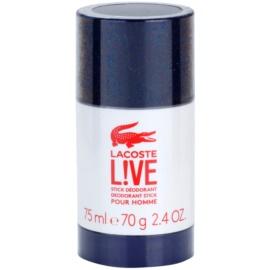 Lacoste Live Male desodorante en barra para hombre 75 ml
