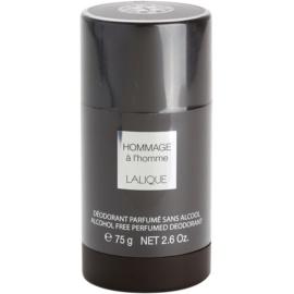 Lalique Hommage a L'Homme desodorizante em stick para homens 75 ml