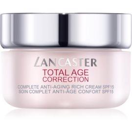 Lancaster Total Age Correction odżywczy krem przeciwzmarszczkowy SPF15  50 ml