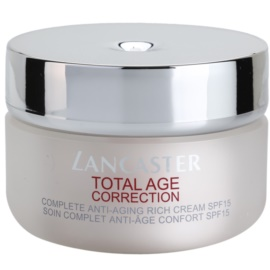 Lancaster Total Age Correction Anti-Faltencreme für trockene bis sehr trockene Haut SPF 15  50 ml