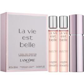 Lancôme La Vie Est Belle Eau de Parfum voor Vrouwen  3 x 18 ml (1x Navulbaar + 2x Navulling)