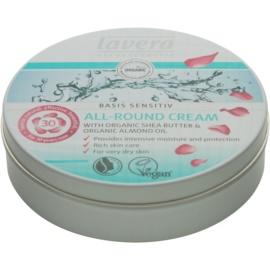 Lavera Basis Sensitiv crema de día  hidratante y nutritiva  para pieles secas  150 ml
