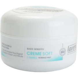Lavera Basis Sensitiv crema hidratante para pieles normales  150 ml