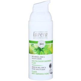 Lavera Faces Bio Mint fluid nawilżający do skóry  tłustej  50 ml