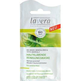 Lavera Faces Bio Mint hloubkově čisticí maska pro mastnou pleť  10 ml