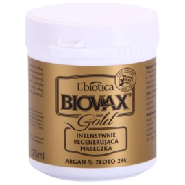 L'biotica Biovax Glamour Gold vlasová maska s arganovým olejem  125 ml