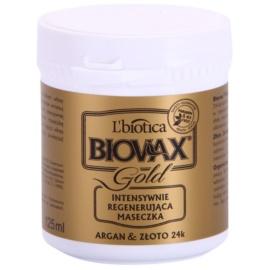 L'biotica Biovax Glamour Gold maska do włosów z olejkiem arganowym  125 ml