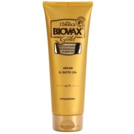 L'biotica Biovax Glamour Gold regenerační šampon s arganovým olejem  200 ml