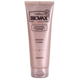 L'biotica Biovax Glamour Pearl regenerační šampon pro hydrataci a lesk  200 ml