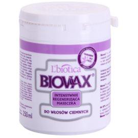 L'biotica Biovax Dark Hair intenzivní vlasová maska pro hydrataci a lesk  250 ml