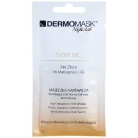 L'biotica DermoMask Night Active mascarilla reafirmante con efecto lifting con oro de 24 quilates  12 ml