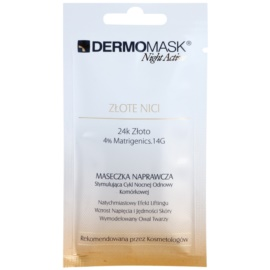 L'biotica DermoMask Night Active lifting in učvrstitvena maska z 24-karatnim zlatom  12 ml