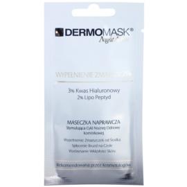 L'biotica DermoMask Night Active mascarilla antiarrugas con efecto relleno antiarrugas profundas  12 ml