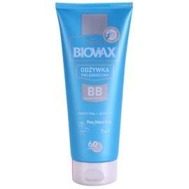 L'biotica Biovax Keratin & Silk balzam s keratinom za lažje česanje las  200 ml
