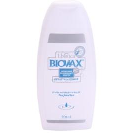 L'biotica Biovax Keratin & Silk posilující šampon s keratinovým komplexem  200 ml