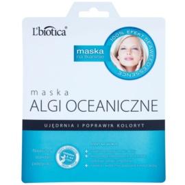 L'biotica Masks Seaweed Essence plátýnková maska pro zpevnění a sjednocení tónu pleti  23 ml