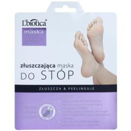 L'biotica Masks feuchtigkeitsspendende Peeling-Socken für zartere Fußsohlen  40 ml