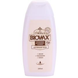 L'biotica Biovax Natural Oil regeneráló sampon a hidratálásért és a fényért  200 ml