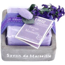 Le Chatelard 1802 Lavender from Provence luxuriöse französische Seife mit Seifenschale  100 g