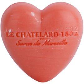 Le Chatelard 1802 Jasmine Rose mydlo v tvare srdca  25 g