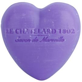 Le Chatelard 1802 Lavender mydlo v tvare srdca  25 g