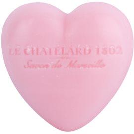 Le Chatelard 1802 Rose & Peony mydlo v tvare srdca  25 g