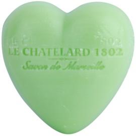 Le Chatelard 1802 Olive & Tilia Flowers mýdlo ve tvaru srdce  25 g