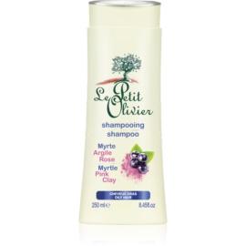Le Petit Olivier Myrtle & Pink Clay shampoo per capelli grassi  250 ml