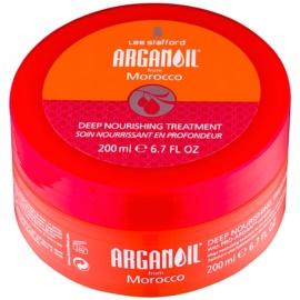 Lee Stafford Argan Oil from Morocco máscara nutritiva para alisamento de cabelo   200 ml
