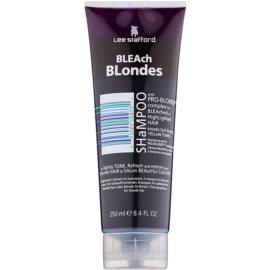 Lee Stafford Bleach Blondes Shampoo für blonde Haare neutralisiert gelbe Verfärbungen  250 ml