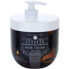 Leganza Hair Care mascarilla textura crema con keratina  1000 ml