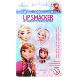 Lip Smacker Disney Die Eiskönigin Lippenbalsam mit ringförmigen Spender Geschmack Sweet Winter Peach, Frozen Berry Hugs 2 x 0,5 g