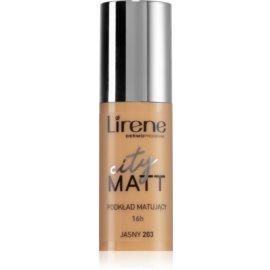 Lirene City Matt Make-up lichid matifiant cu efect de netezire culoare 203 Light  30 ml