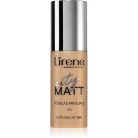 Lirene City Matt Make-up lichid matifiant cu efect de netezire culoare 204 Natural  30 ml