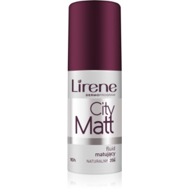 Lirene City Matt matirajoči fluidni tekoči puder z gladilnim učinkom odtenek 204 Natural  30 ml