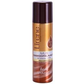 Lirene Body Arabica espuma autobronceadora para rostro y cuerpo  150 ml