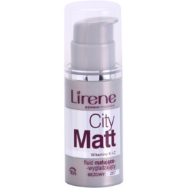 Lirene City Matt Make-up lichid matifiant cu efect de netezire culoare 207 Beige  30 ml