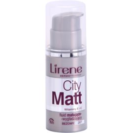 Lirene City Matt mattierendes Make up-Fluid mit glättender Wirkung Farbton 207 Beige  30 ml