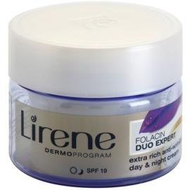Lirene Folacin Duo Expert 60+ crema anti-rid intensiva SPF 10  50 ml