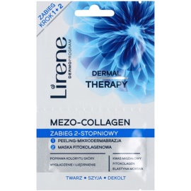 Lirene Dermal Therapy Mezo-Collagen Cleansing Mask and Scrub With Rejuvenating Effect  2 x 6 ml