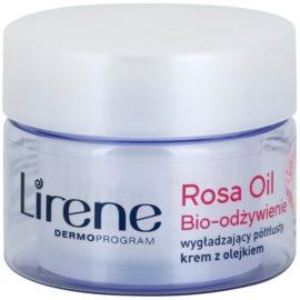 Lirene Essential Oils Rose výživný vyhlazující krém pro zralou pleť  50 ml