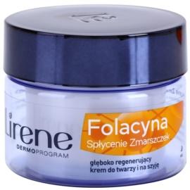Lirene Folacyna 60+ crema de noche con efecto alisante  50 ml