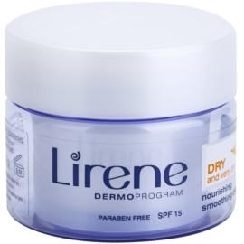 Lirene Healthy Skin+ Dry Skin tápláló kisimító krém SPF 15  50 ml