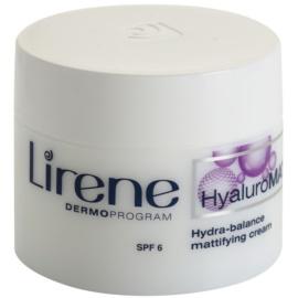 Lirene HyaluroMat matující krém s kyselinou hyaluronovou SPF 6  50 ml