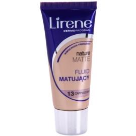 Lirene Nature Matte podkład matujacy we fluidzie dla długotrwałego efektu odcień 13 Capuccino 30 ml