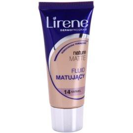 Lirene Nature Matte podkład matujacy we fluidzie dla długotrwałego efektu odcień 14 Caramel 30 ml