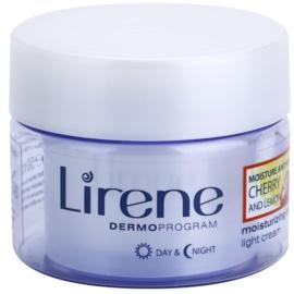 Lirene Moisture & Nourishment leichte erfrischende und feuchtigkeitsspendende Creme mit Kirsche und Zitrone  50 ml
